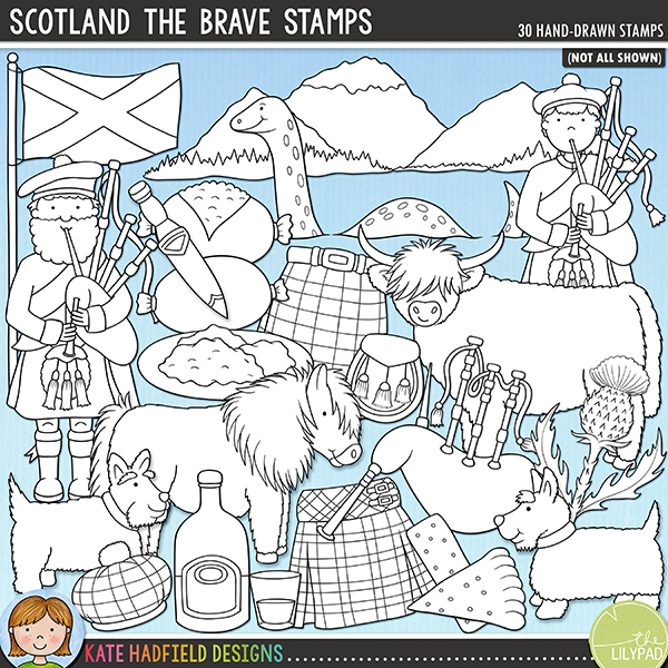 Scotland the Brave Stamps