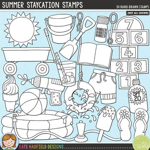 Summer Staycation Stamps