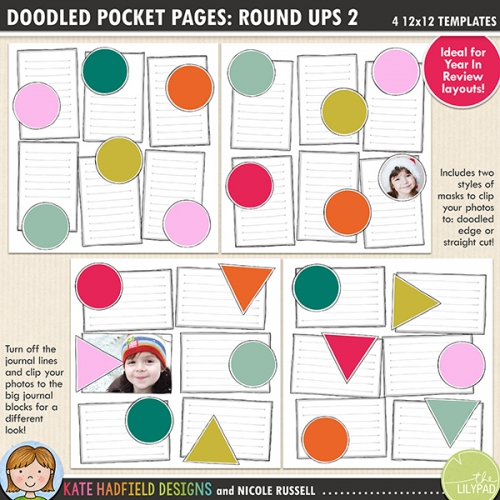 Doodled Pocket Pages: Round Ups 2