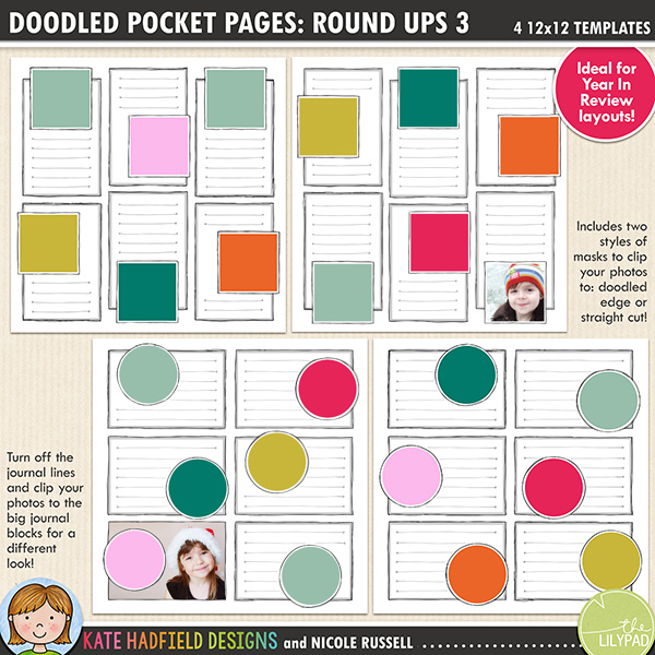 Doodled Pocket Pages: Rounds Ups 3