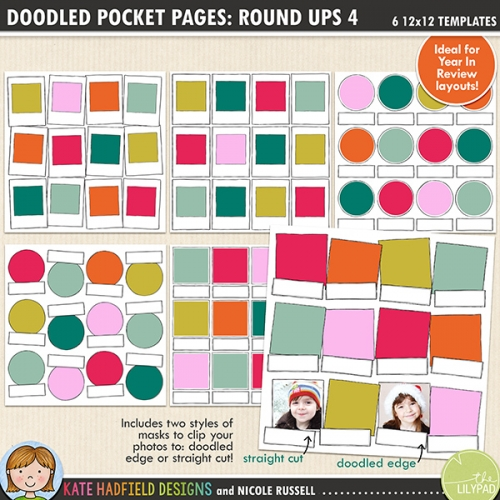 Doodled Pocket Pages: Rounds Ups 4