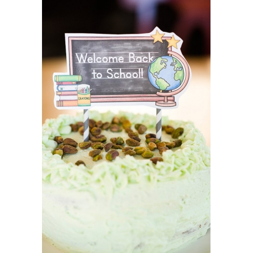 Back to School Cake Topper