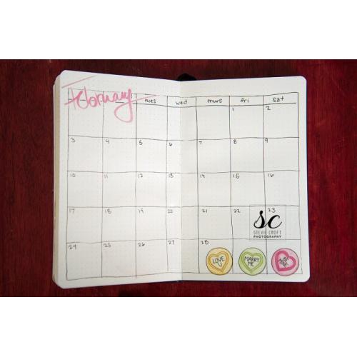 Bujo: Feb Calendar