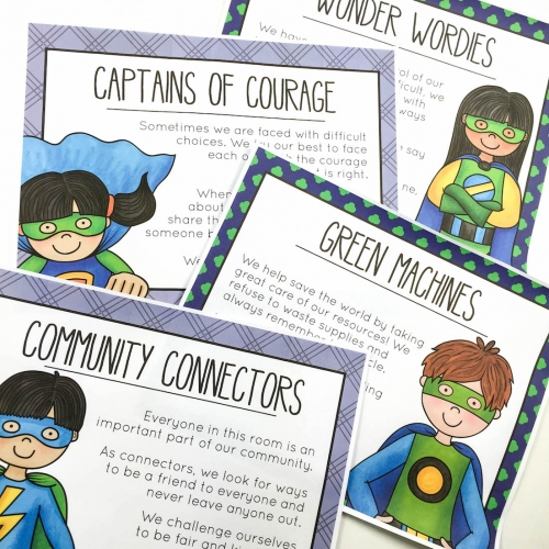 Superhero Character Ed Posters