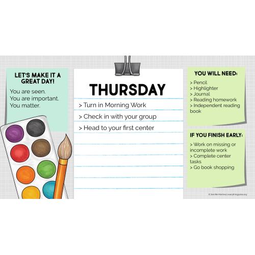 Daily Agenda Slides for September