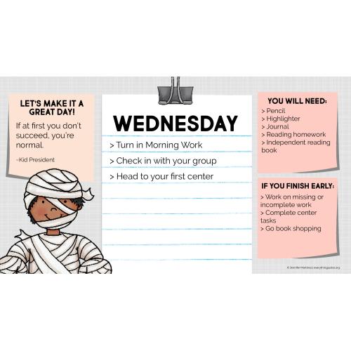Daily Agenda Slides: October