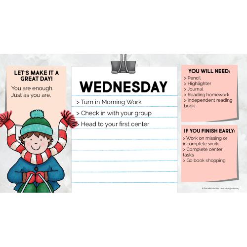 Daily Agenda Slides - December