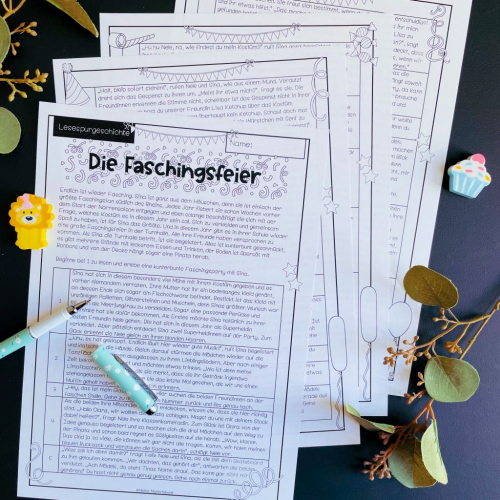 Reading story - Text