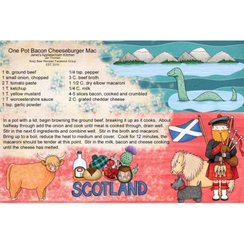 Scotland the Brave Recipe Card