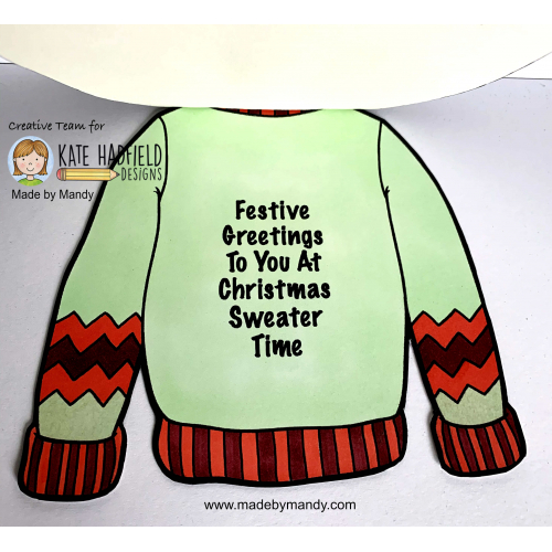 Shaped Christmas Sweater Card