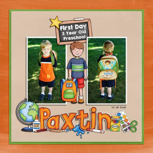 First Day - 3 yr old Preschool - Paxtin