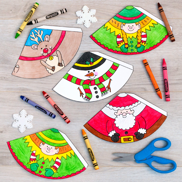 Colour In Printable Craft For Kids