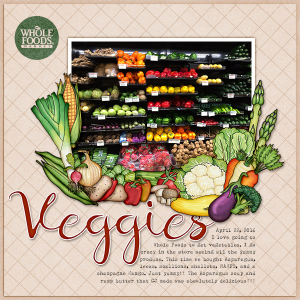 Fresh Veggies  Veggies Digital Paper  Veggies Scrapbooking Tools  Veggies Scrapbook Paper  12 Real Photos  Big size