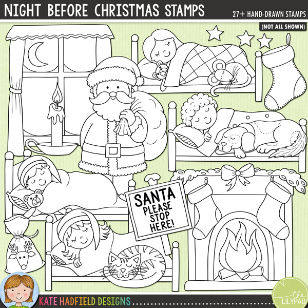 Christmas Stamps.Night Before Christmas Stamps