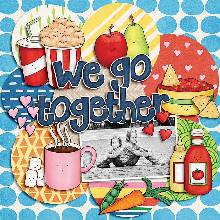 Kate Hadfield Designs:We Go Together 3https://katehadfielddesigns.com/shop/we-go-together-3We Go Together extras & Alphabethttps://katehadfielddesigns.com/blog/we-go-together-freebies/papers: Weekend at homehttps://katehadfielddesigns.com/shop/papers/weekend-at-home-papers