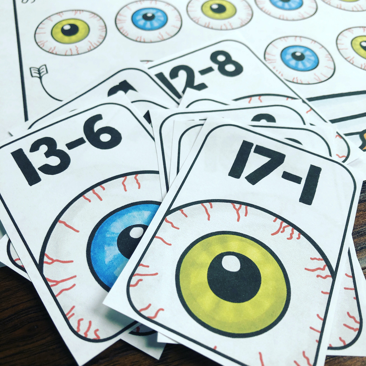 These creepy eyes make practicing math fun and spooky!