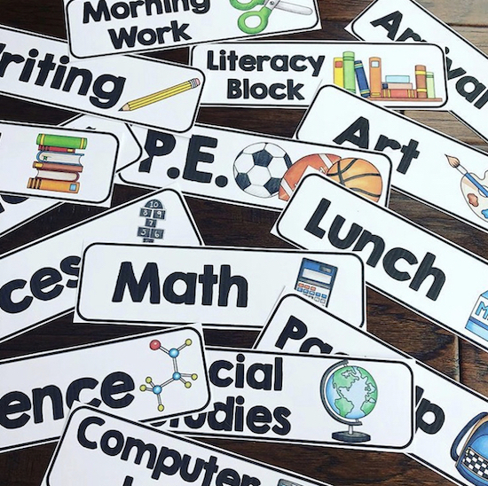 What are we doing today?  These cards are great to help kids learn and understand the daily routine in the classroom!