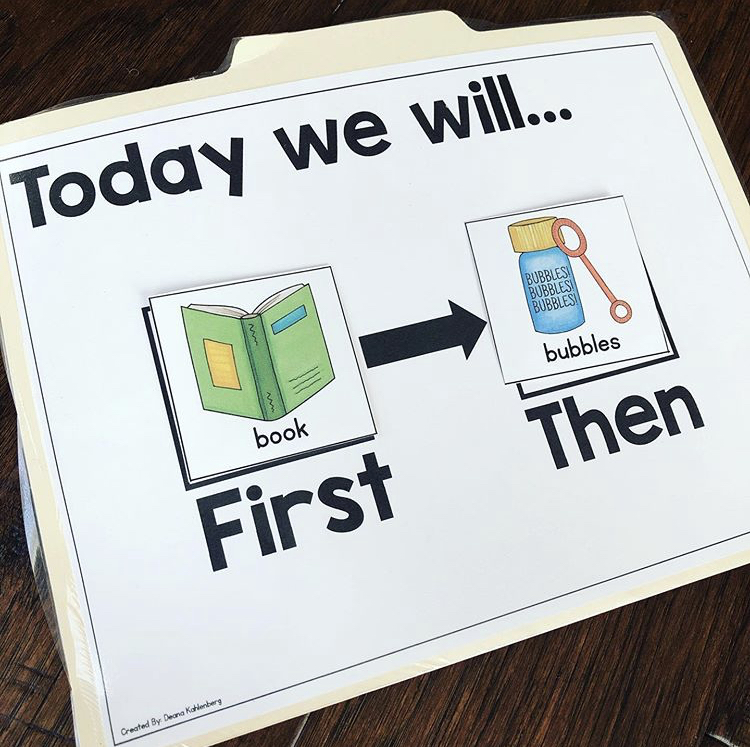 Some of my little friends need a simple schedule and this first...then board works well!