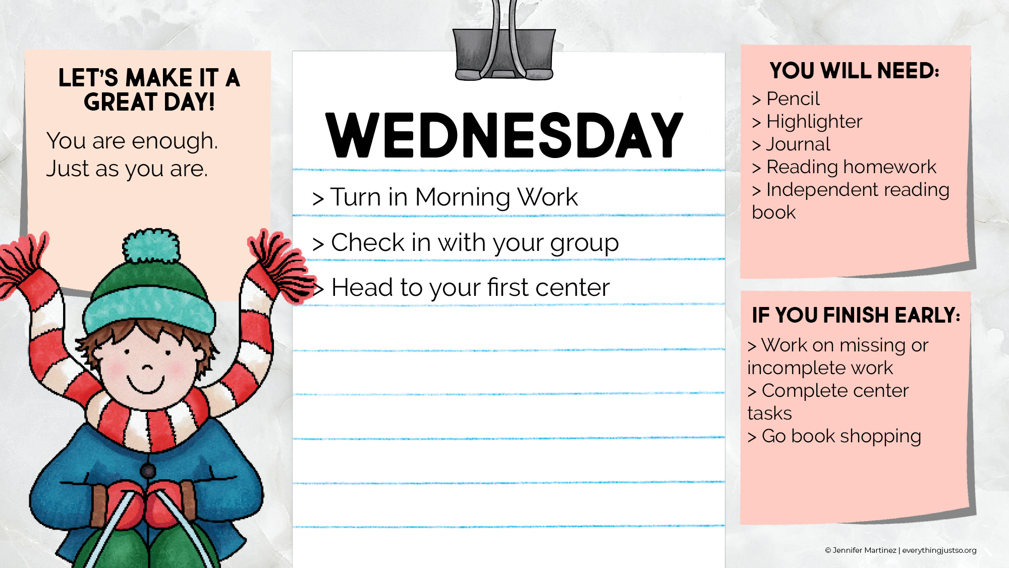 Designed for teachers - use to keep your students and yourself organized during the busyness of morning.