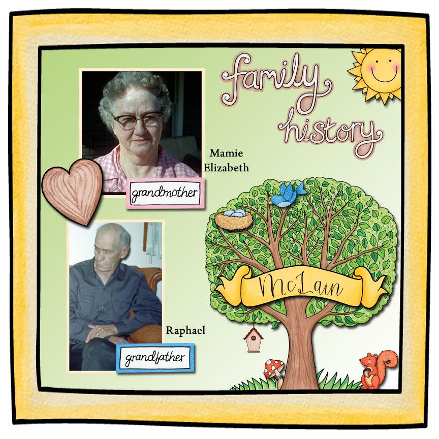 Kit used:Family Tree