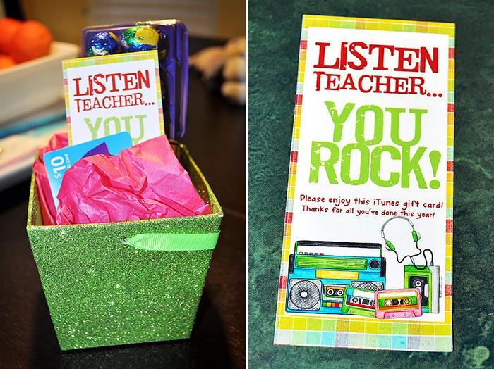 itunes teacher appreciation gift box