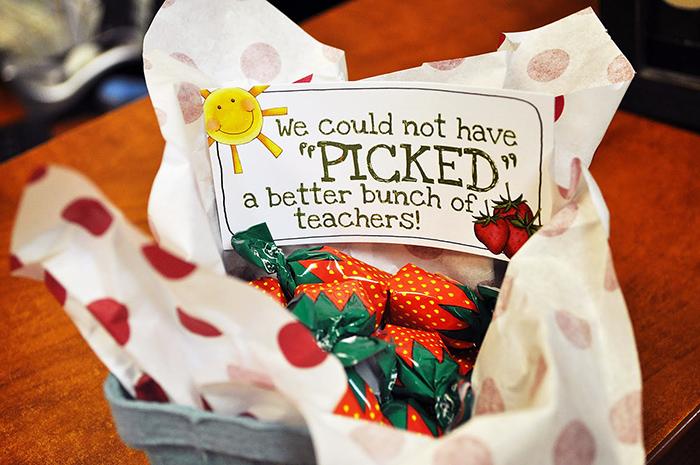 teacher appreciation strawberry gift box