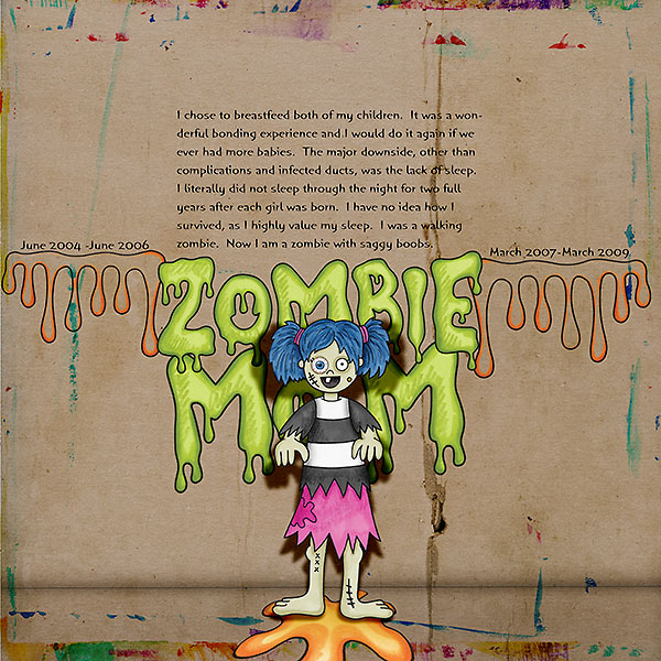 Halloween scrapbooking ideas! Halloween digital scrapbook layout by Kate Hadfield Designs creative team member Rachel