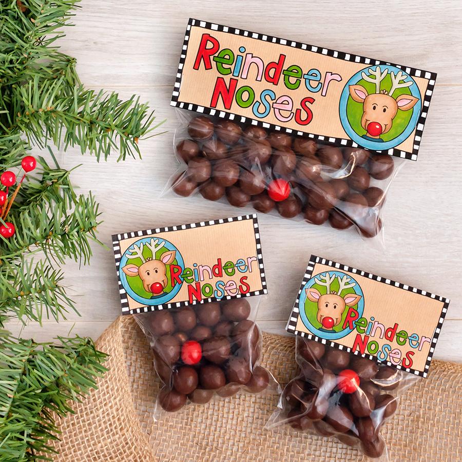 reindeer noses treat bags