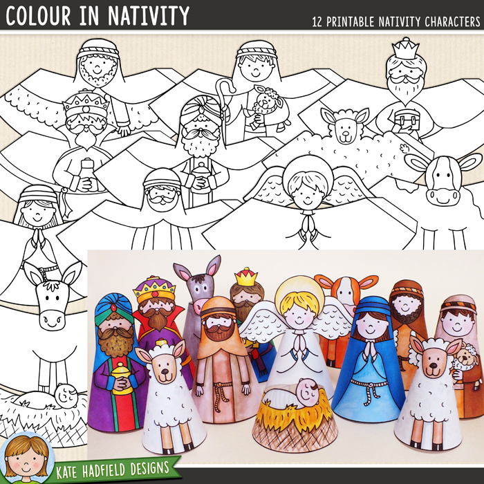 A Printable Nativity Scene Craft That Your Kids Will Love To Make
