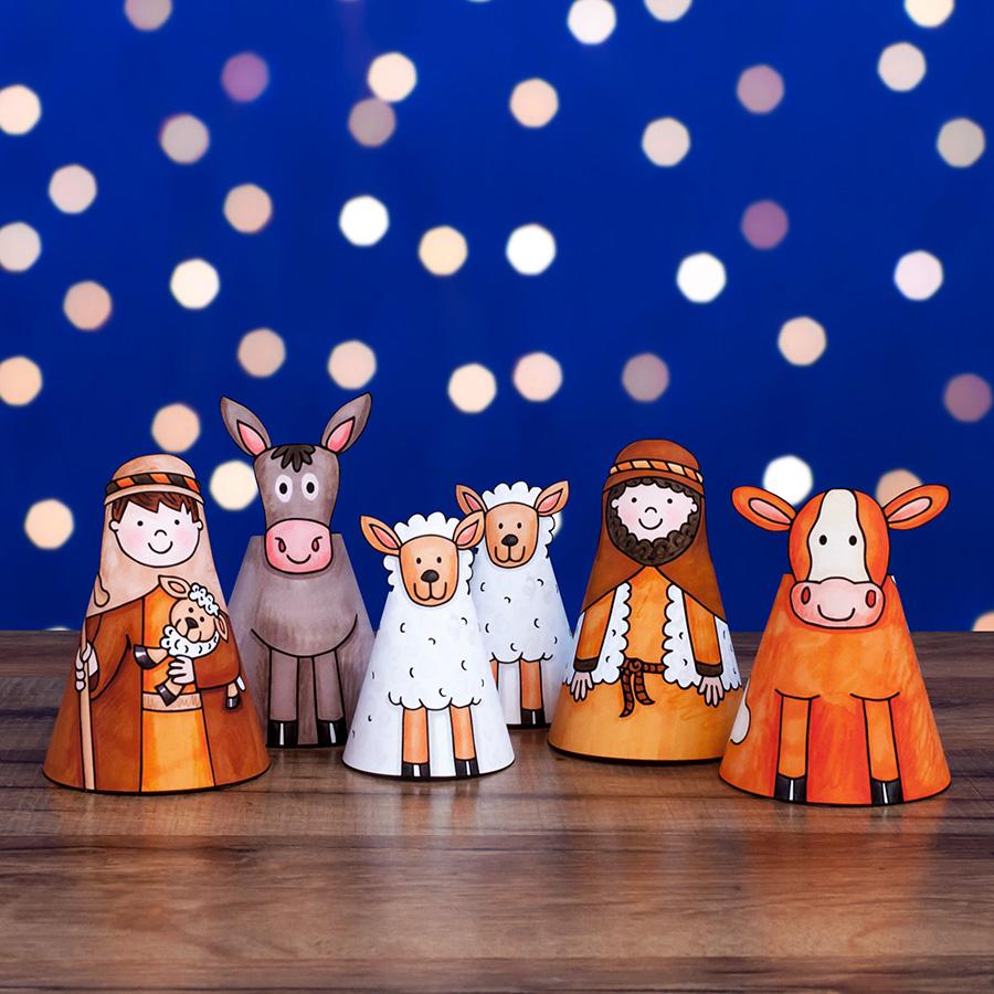 shepherds and sheep nativity craft