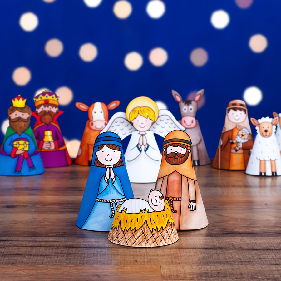 nativity paper craft for kids