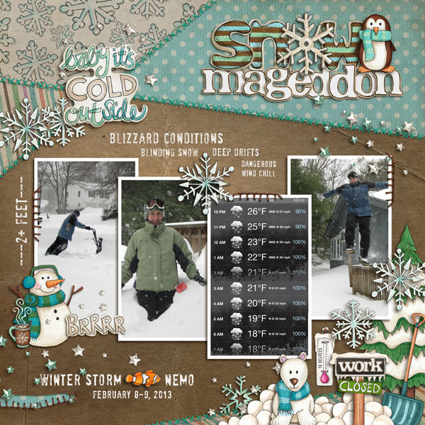 Digital scrapbook layout created with the FREE digital scrapbooking template from Kate Hadfield Designs! | scrapbook layout ideas | layout by Nicole