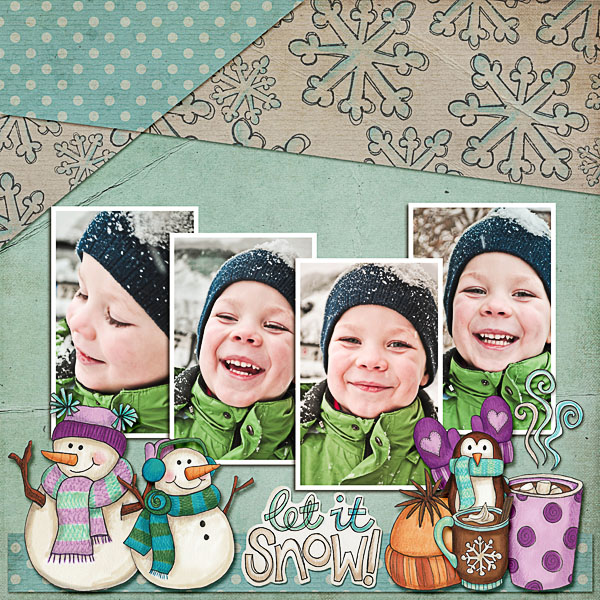 Digital scrapbook layout created with the FREE digital scrapbooking template from Kate Hadfield Designs! | scrapbook layout ideas | layout by Dagi