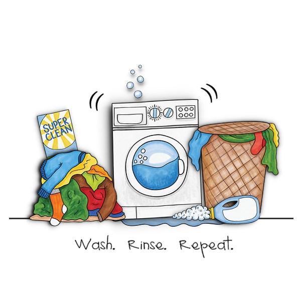 Wash Day digital scrapbooking page | scrapbook layout ideas | Kate Hadfield Designs creative team layout by Edeena