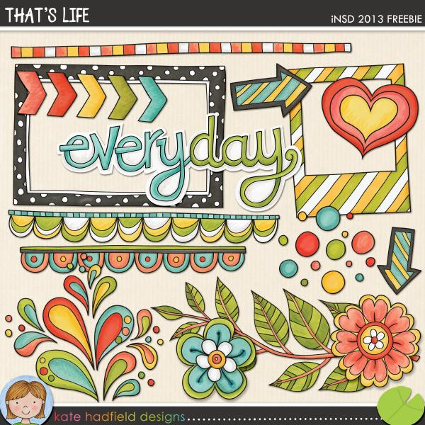 Kate Hadfield Designs: That's Life freebie