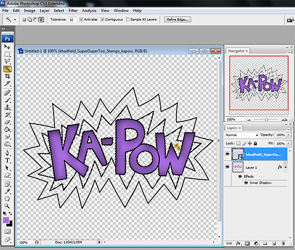 Photoshop Tips: Coloring in Digital Stamps - Kate Hadfield