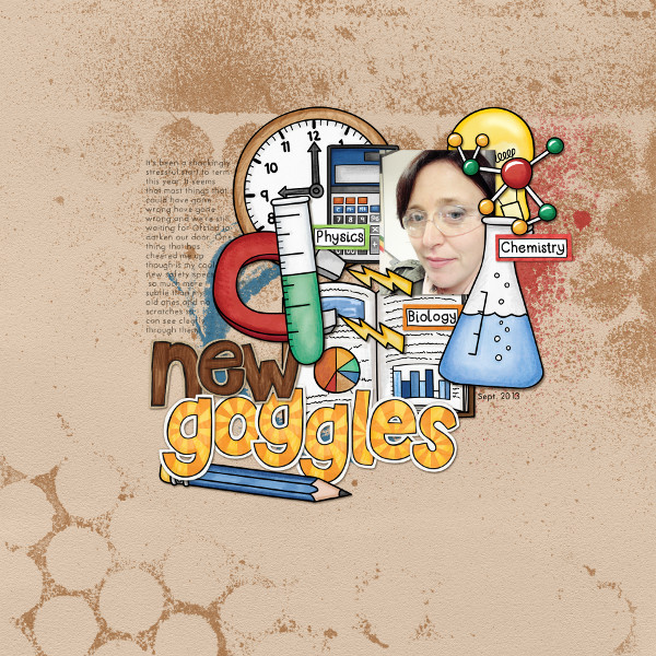 Back to school digital scrapbooking page | school scrapbook layout ideas | Kate Hadfield Designs creative team layout by Jude