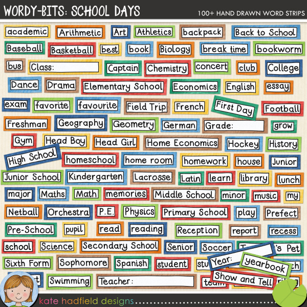 wordy bits school days