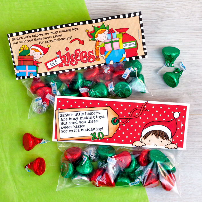 graphic about Elf Kisses Printable identify Cost-free Elf Kisses bag toppers - Kate Hadfield Styles
