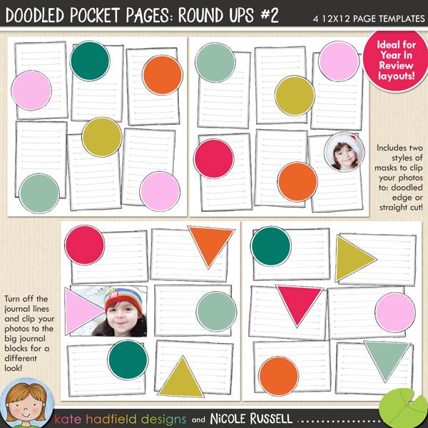Doodled Pocket Pages: Round Ups #2