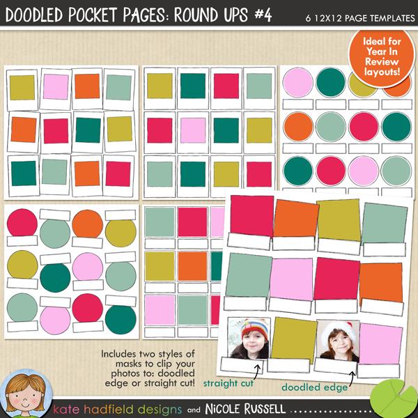 Doodled Pocket Pages: Round Ups #4
