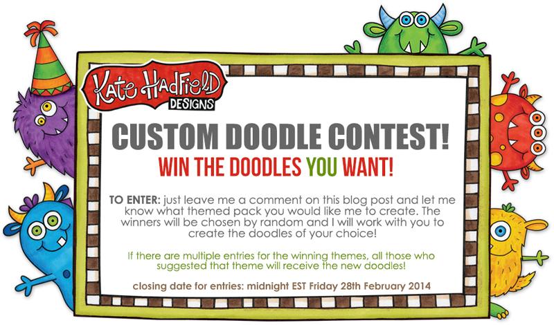 Kate Hadfield custom doodle contest