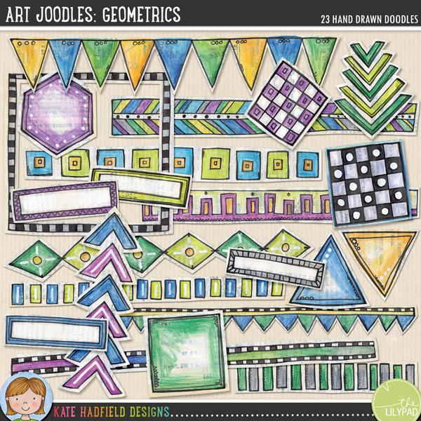 Art Joodles: Geometrics by Kate Hadfield
