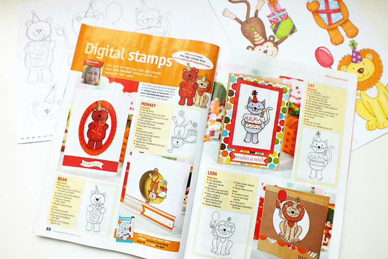 Evolution of digital stamp design from sketch to magazine! Kate Hadfield Designs