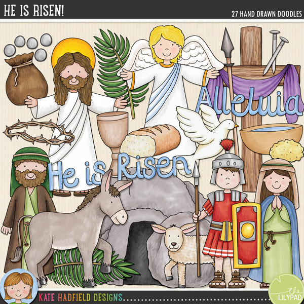 He Is Risen! doodles by Kate Hadfield