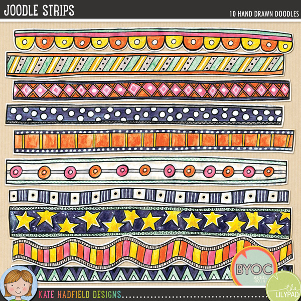 Joodle Strips by Kate Hadfield