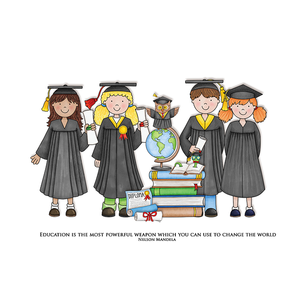 Graduation digital scrapbooking page | school scrapbook layout ideas | Kate Hadfield Designs Creative Team scrapbook page by Cvetana