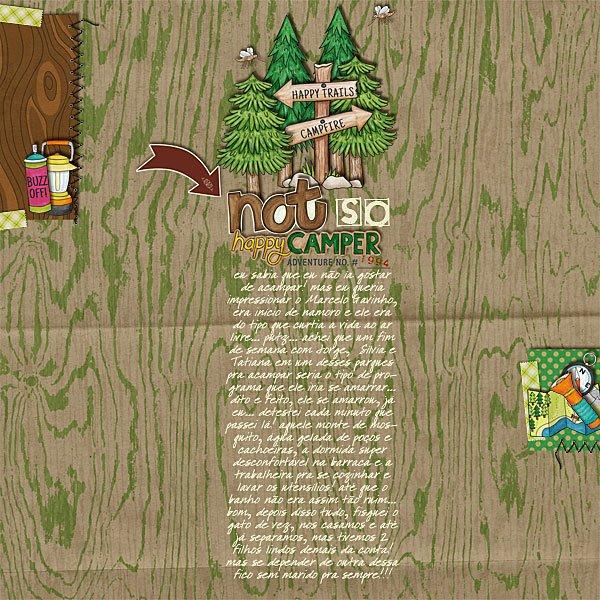 Summer Camp - digital scrapbooking layout from Kate Hadfield Designs creative team member Amanda