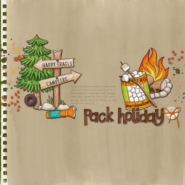 Summer Camp - digital scrapbooking layout from Kate Hadfield Designs creative team member Jude
