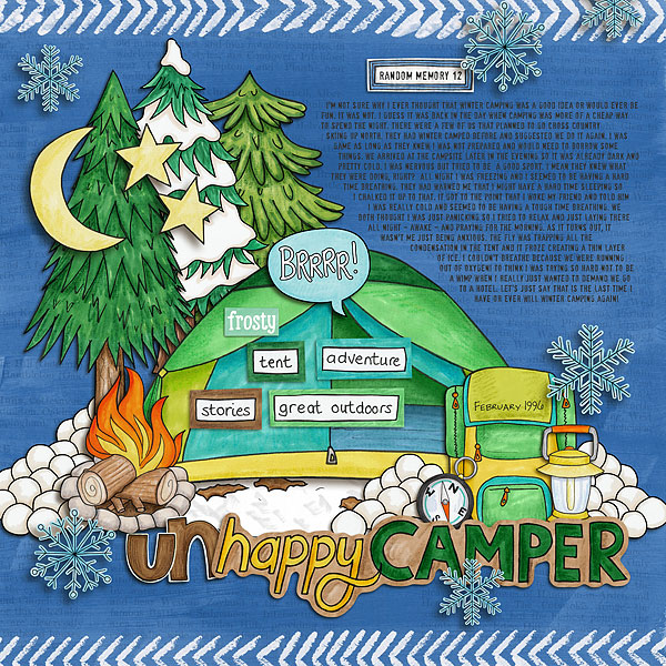 Summer Camp - digital scrapbooking layout from Kate Hadfield Designs creative team member Nicole